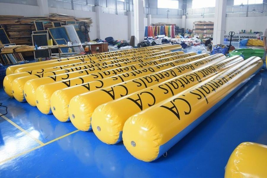 Yellow Inflatable Tubes With 0.9mm Durable Commercial Grade PVC Tarpaulin