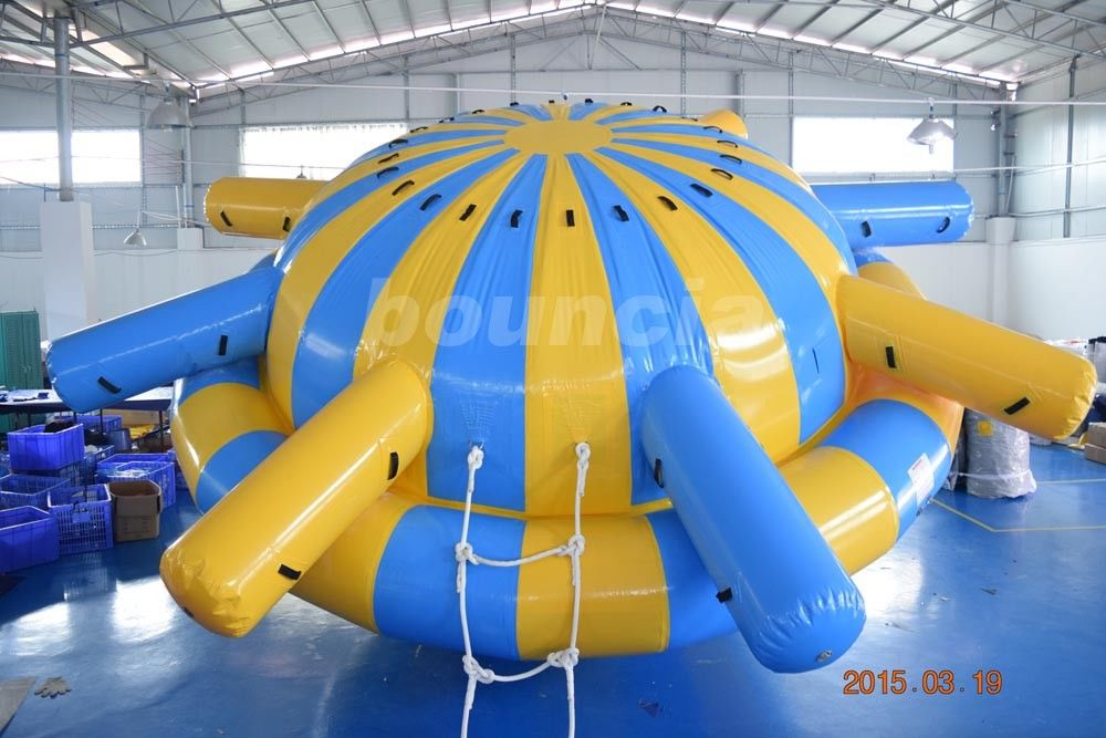 0.9mm PVC Tarpaulin Inflatable Saturn Rocker For Water Park Games supplier
