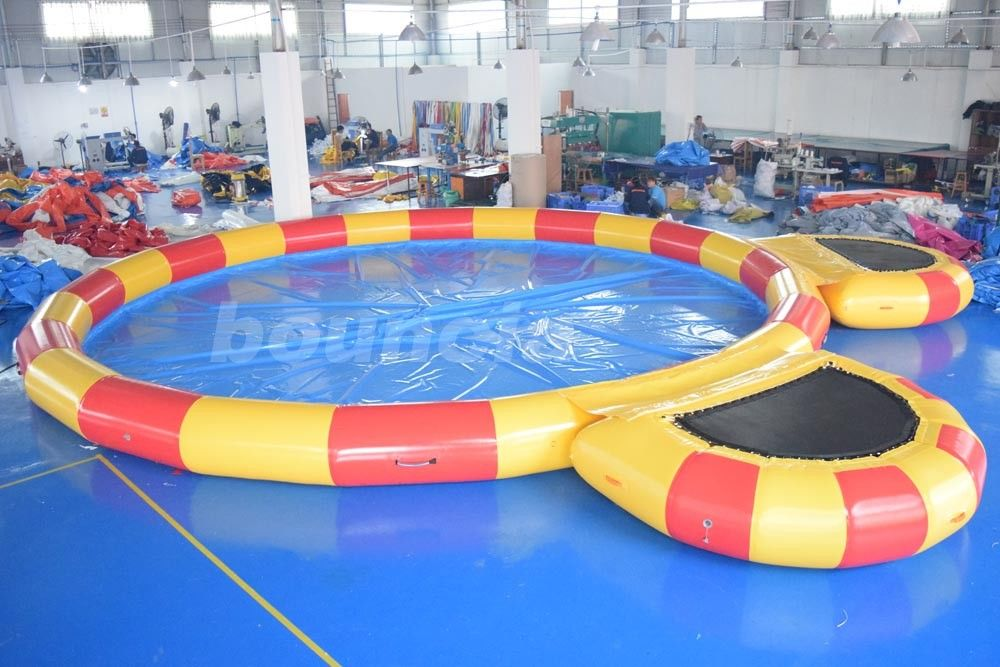 Round Large Inflatable Water Pool With Platform For Water Walking Ball supplier