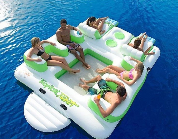Durable Inflatable Water Sport Inflatable Island Floating Lounge With 6 Seats supplier