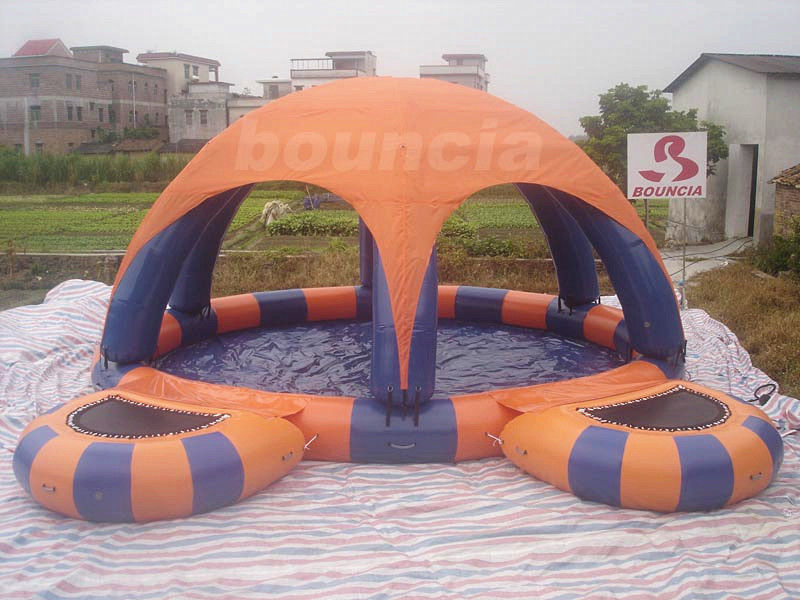 Inflatable Water Pool With Tent Cover And Platform For Water Walking Ball & Water Pool With Tent Cover And Platform For Water Walking Ball