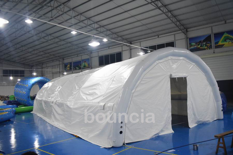 Durable White Outdoor Airtight Tent / Inflatable Event Tent With 0.9mm PVC Tarpaulin supplier