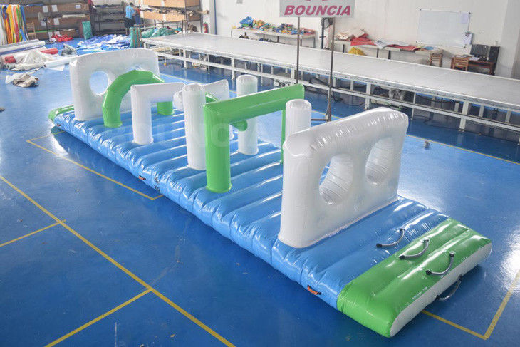 Swimming Pool Floating Inflatable Obstacle Course With Pvc Tarpaulin