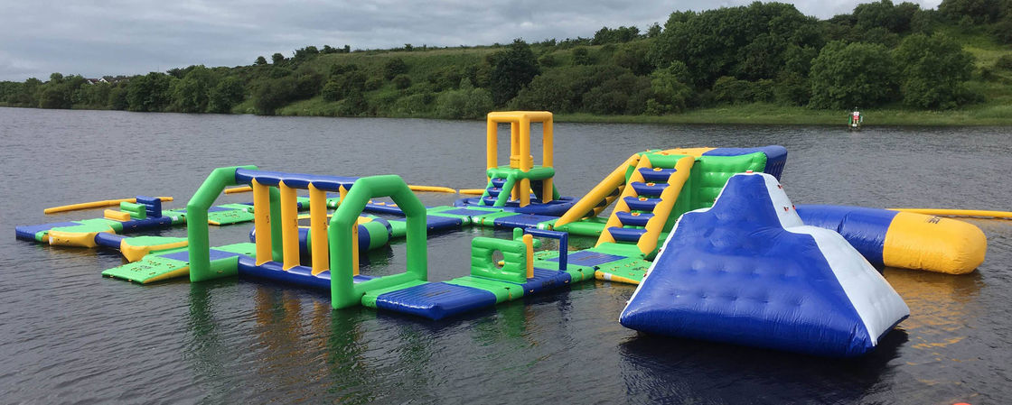 Lake Floating Inflatable Water Park / Inflatable Water Games For Adults And Kids supplier