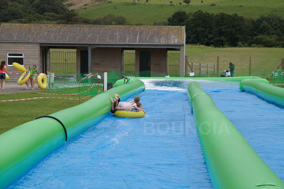 100m Giant Inflatable Slip N Slide With Pool For Kids And Adults supplier