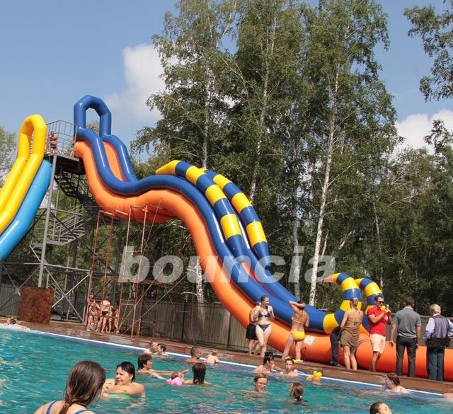 Inflatable Giant Slide: Giant Inflatable Water Slide With Durable 0.9 Mm PVC Tarpaulin
