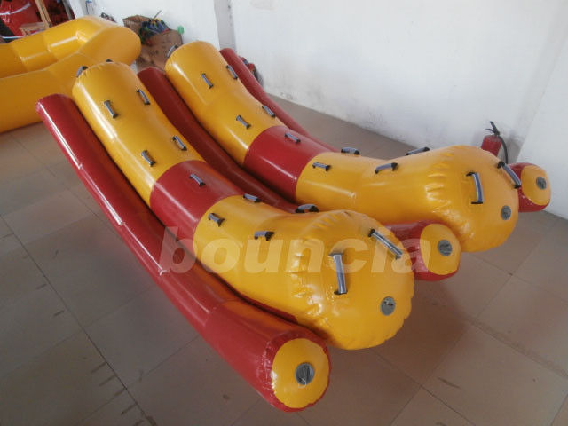 Two Tubes Inflatable Floating Water Totter With 0.9mm PVC Tarpaulin supplier