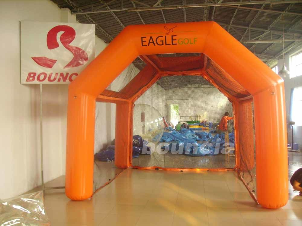 0.6mm PVC Inflatable Golf Cage For Golf Sports supplier