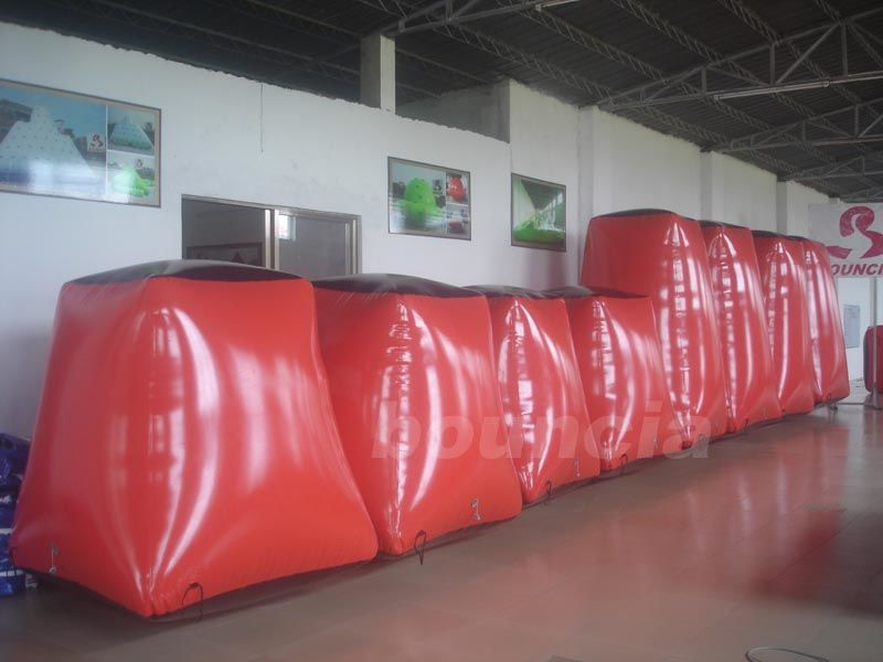 Red Paintball Field Equipment Inflatable Paintball Bunker