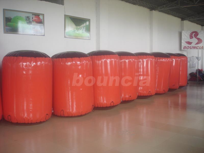 Red Inflatable Cylinder Paintball Bunker supplier