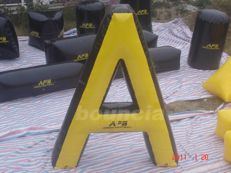 """ A"" Shape Tactical Inflatable Paintball Bunker / Air Bunkers for Paintball Games"