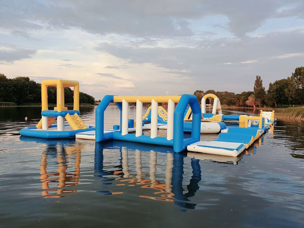 Hungary Inflatable Water Sports Park / Kids Blow Up Water Park For Lake supplier