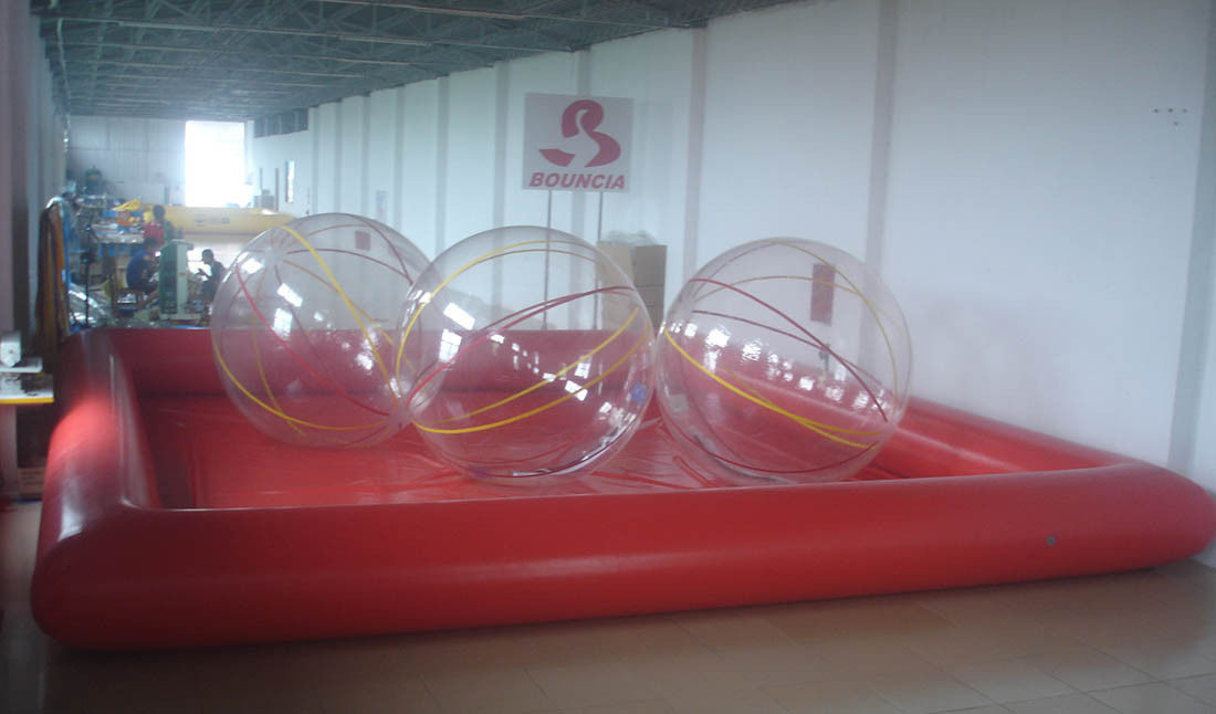 Inflatable Pool / Inflatable Water Ball Pool For Rental Business supplier