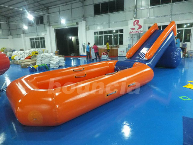 0.6mm PVC Tarpaulin Inflatable Water Slide With Pool For Water Park supplier