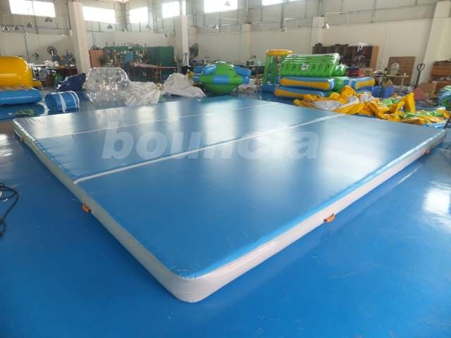 Good Airtightness Inflatable Air Tumble Track / Inflatable Gym Mats supplier