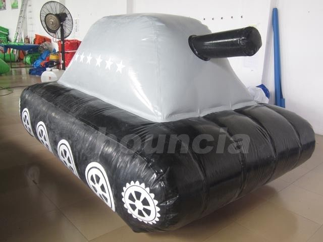 0.6mm / 0.9mm PVC Tarpaulin Fabric  Inflatable Military Tank for Paintball Sport supplier