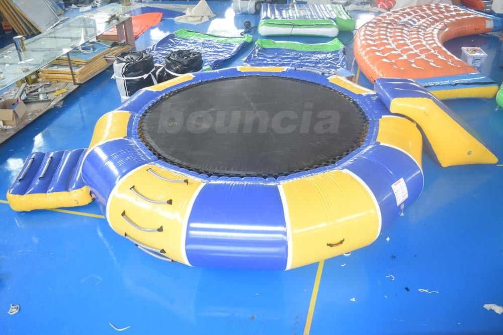 0.9mm PVC Tarpaulin Inflatable Water Trampoline Combo For Water Sports supplier