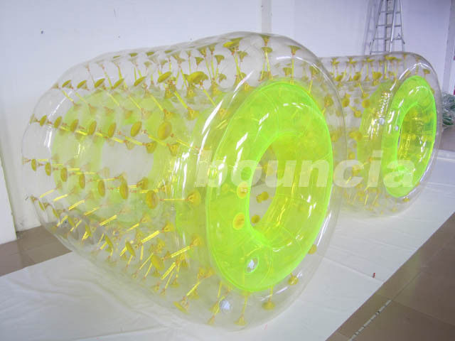 PVC Material Shining Inflatable Water Roller Used In Water Park supplier