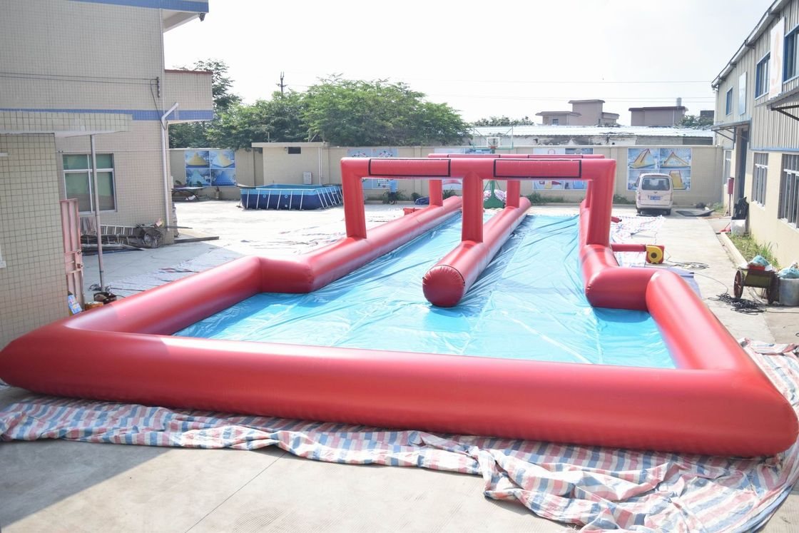 50m Inflatable Water Slide , Inflatable Long Slide For City Road supplier