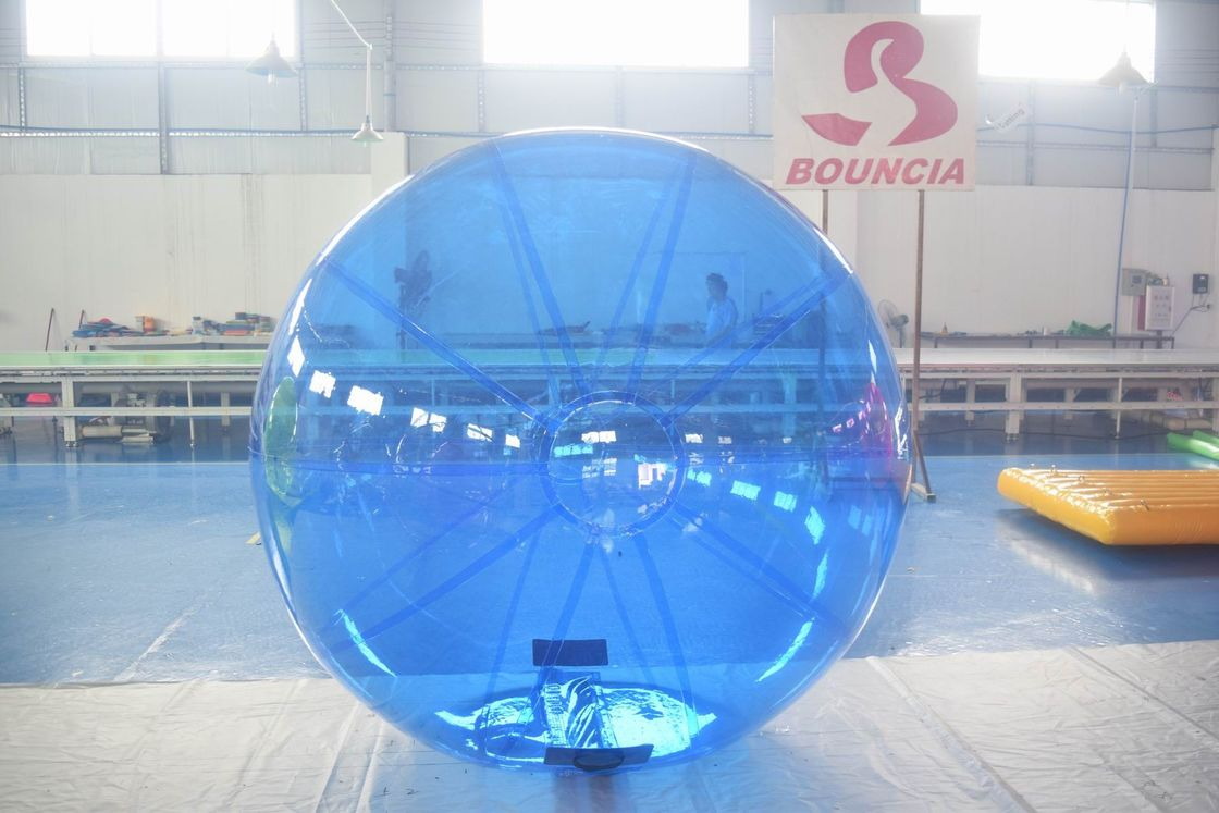 Blue Color Inflatable Water Walking Ball With 0.8m PVC Material supplier