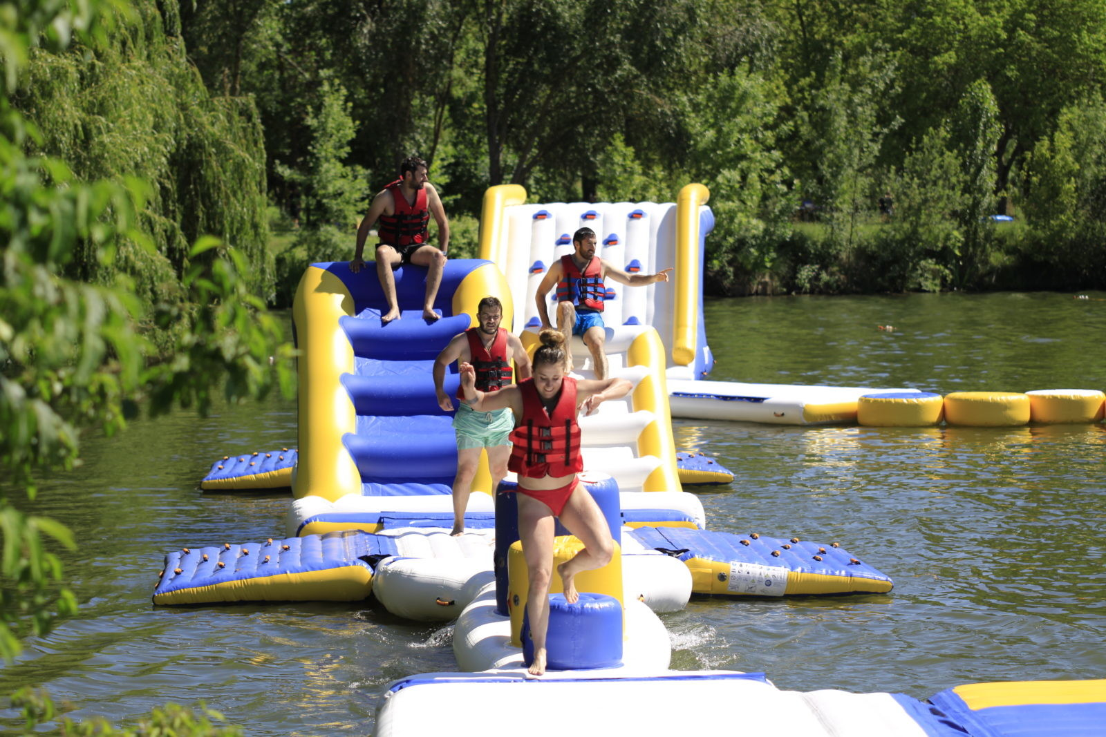 France Outdoor Inflatable Water Park Games For Adults ...