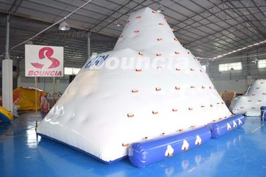 Inflatable Water Climber / Inflatable Iceberg With Big Stainless Steel Anchor Ring