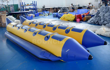 10 Persons Double Tubes Inflatable Banana Boat With Commercial Grade PVC Tarpaulin