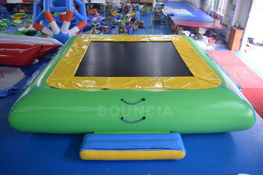 Water Park Commercial Grade PVC Inflatable Water Trampoline For Kids / Adults