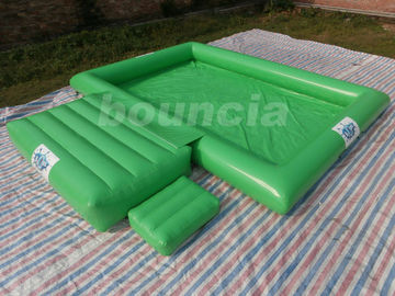 0.9mm PVC Tarpaulin Inflatable Water Pool With Platform For Water Ball