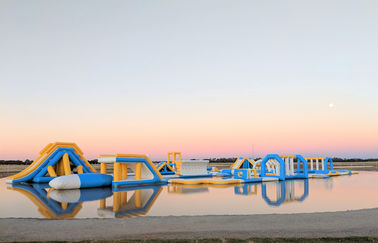 Inflatable Commercial Water Splash Park / Floating Water Playground Equipment In Australia