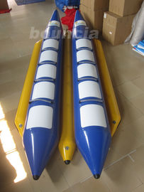 Double Lane  PVC Tarpaulin Inflatable Banana Boat For Water Sports