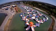 250 People Giant Inflatable Water Park Games, TUV Certificate Inflatable Wipeout Course